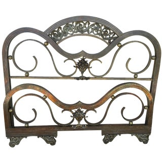 French Antique Brass Headboard & Footboard