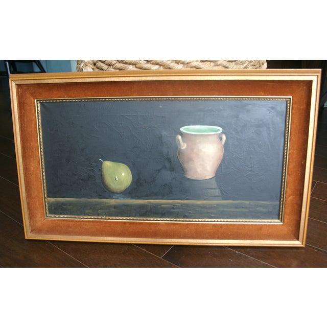 Image of Mid-Century Framed Still Life Oil Painting