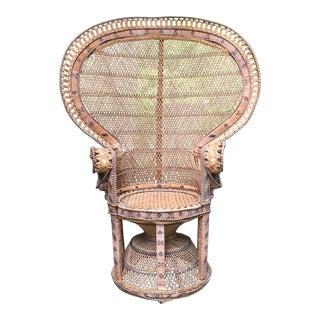 Emmanuelle Style Wicker Peacock Chair