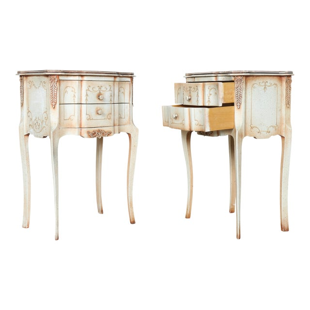 French Style Nightstands - A Pair - Image 1 of 11