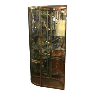Stainless Steel & Brass Double Glass Curio Case