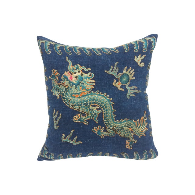 Image of Embroidered Opera Robe Fragment Pillow
