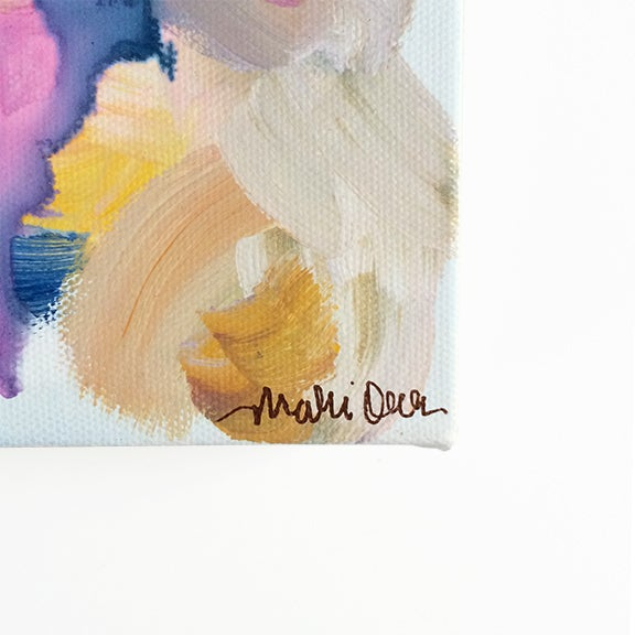 Caroline Original Abstract Painting - Image 3 of 4