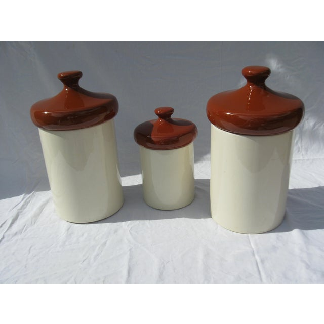 Ceramic Kitchen Canisters Set Of 3 Chairish