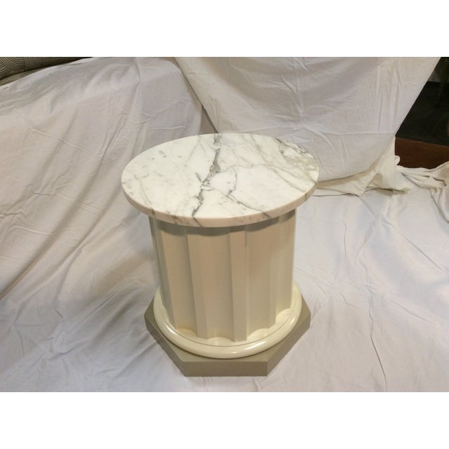 Doric-Style Occasional Table With Stone Top - Image 2 of 6