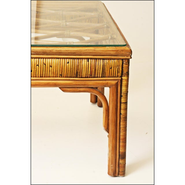 Mid-Century Bamboo Side & Coffee Tables - A Pair - Image 5 of 11