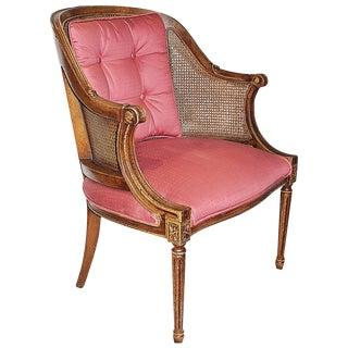 Louis XVI-Style Caned Armchair