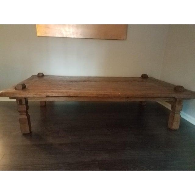 Indonesia Teak Coffee Table: Indonesian Teak Wood Weaving Table