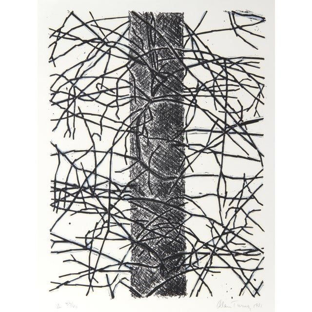 Alan Turner, Pine Cut Down, A, Lithograph - Image 1 of 2