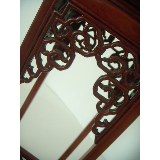 Ornate Chinese Rosewood Display Stand - Image 6 of 8