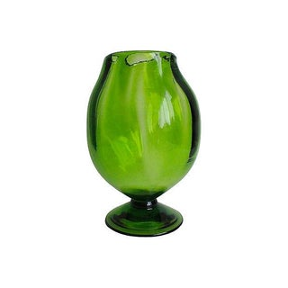 Blenko Emerald Glass Vase