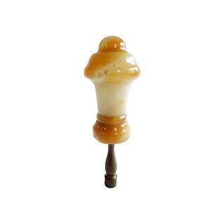 Antique European Alabaster Lamp Finial