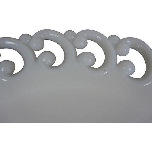 Antique Milk Glass Lace Edge Plates - Set of 8 - Image 4 of 6