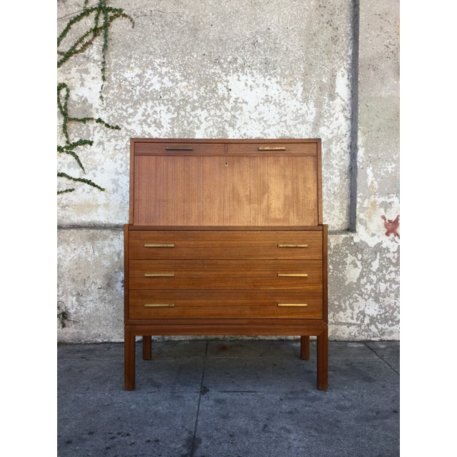 """Falsigs"" Made in Denmark Vintage Teak Desk - Image 2 of 7"