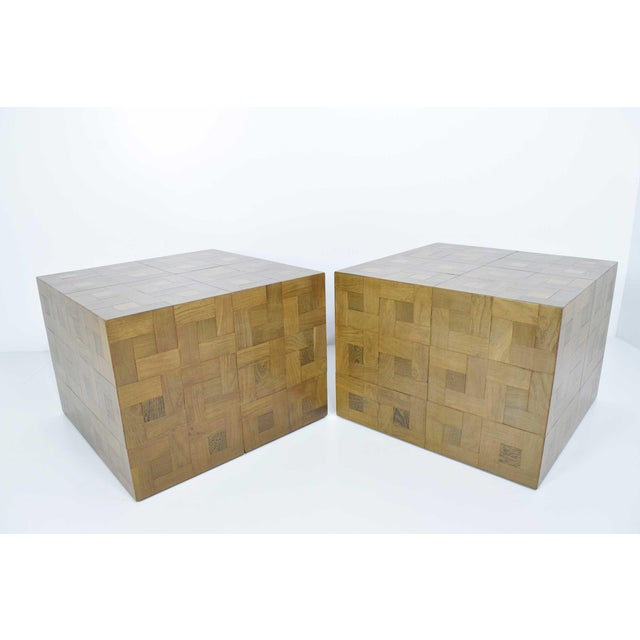 Pair of Parquet Oak Side or Coffee Tables - Image 2 of 7