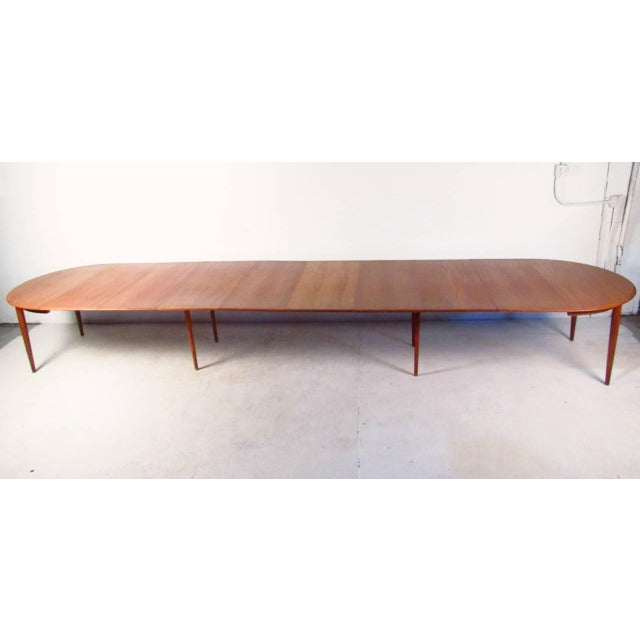 Mid-Century Teak Conference Table & 14 Eric Buck Dining Chairs - Image 4 of 10
