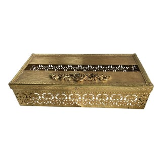 Floral Filigree Tissue Holder