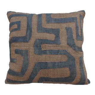 African Cloth Kuba Square Pillow
