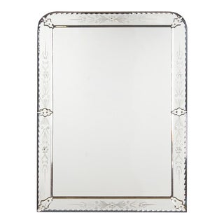 Louis Philippe Style Venetian Glass Mirror, Late 1800s, France