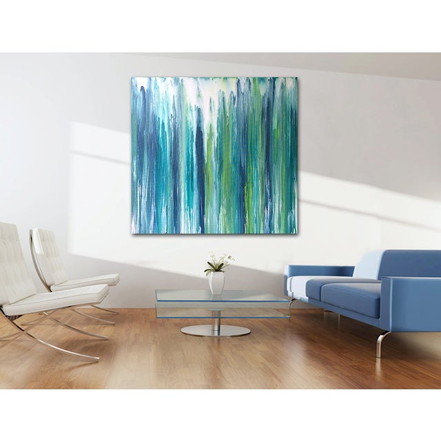 'Waterfall' Original Abstract Painting by Linnea Heide - Image 6 of 8