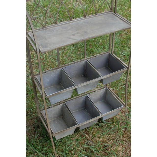 Metal Antique Planter Shelf - Image 3 of 5