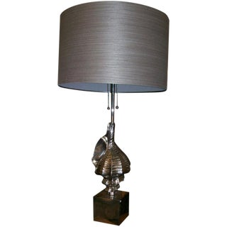 Nickel Plated Shell Table Lamp