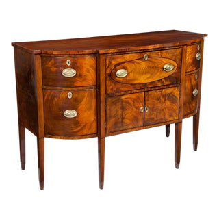 Hepplewhite Mahogany Sideboard with Butler's Desk
