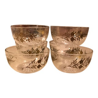 Embossed Glass Salad Bowls - Set of 6