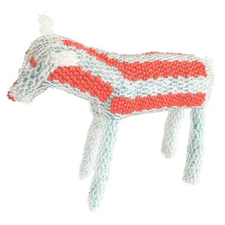 Hand-Beaded Dog or Horse Figure