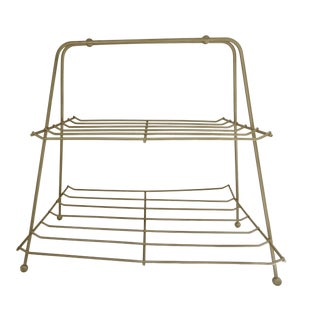 2-Tier Gold Magazine Rack