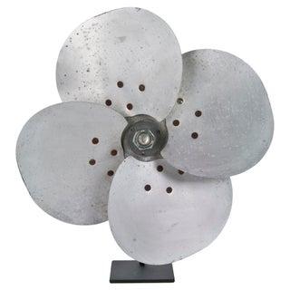 Vintage Aluminum Fan Blade Art