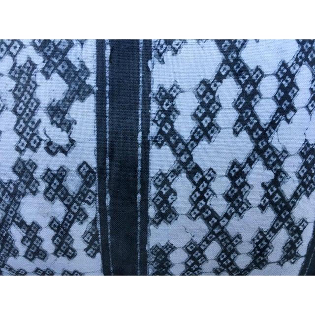Gray Batik Cotton Tribal Pillow - Image 4 of 7