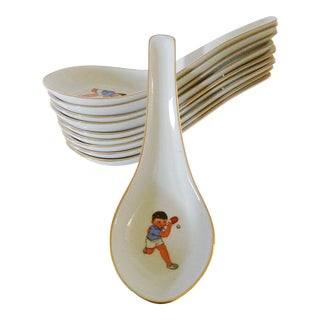 Children's Chinese Soup Spoons - Set of 10