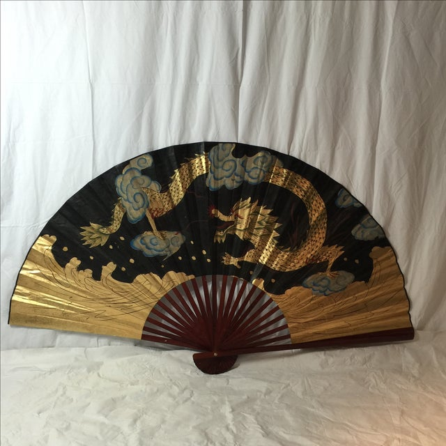 Image of Decorative Chinese Dragon Fan