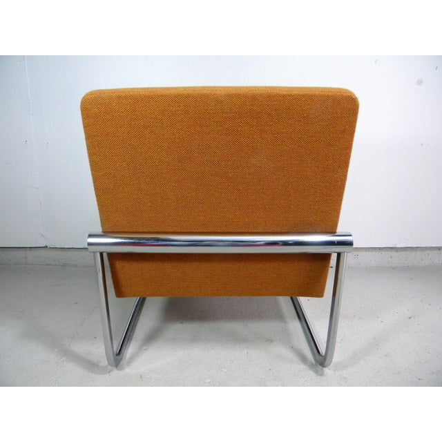 Mid Century Armless Chrome Chair - Image 4 of 6