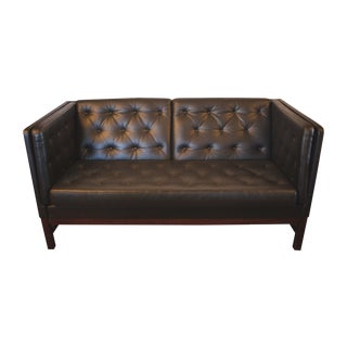 Erik Jørgensen Black Leather Sofa
