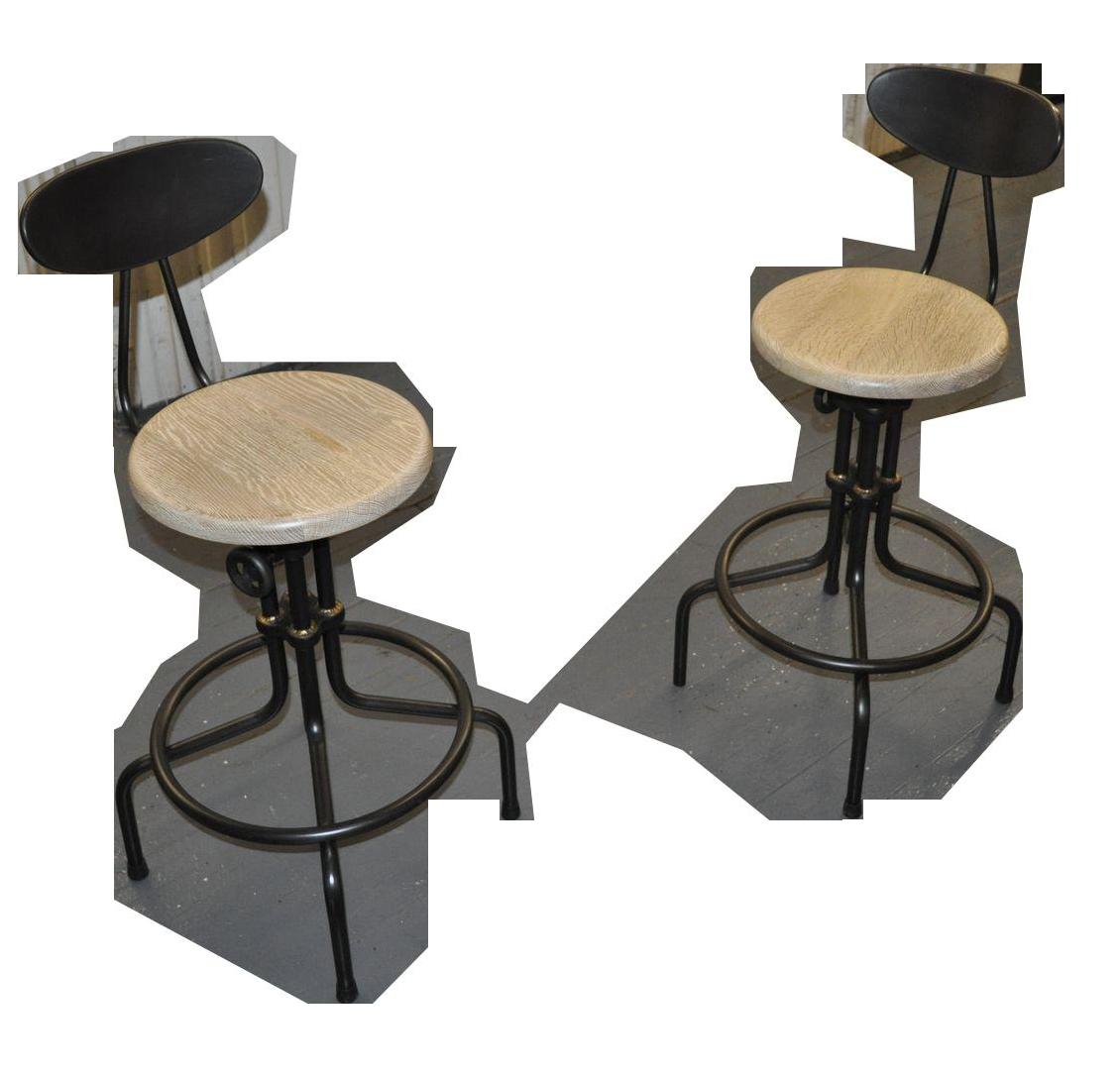 Black Bar Stools Vintage Amp Used Chairish