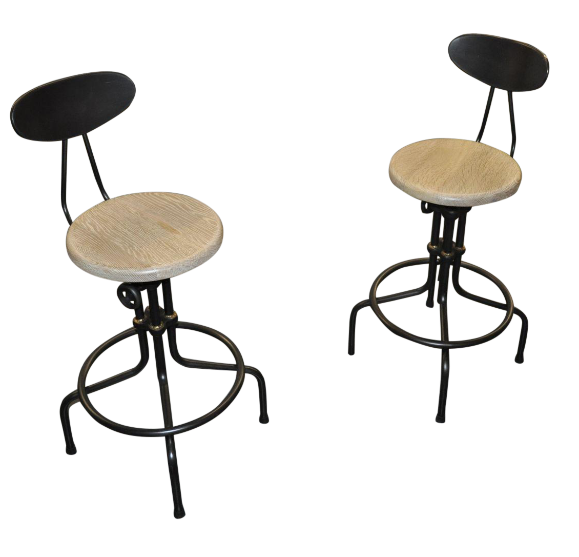 Industrial Style Adjustable Bar Stools Set of 2 Chairish : 84413e71 03c7 4a32 a788 29bc09c03bd4aspectfitampwidth640ampheight640 from www.chairish.com size 640 x 640 jpeg 27kB