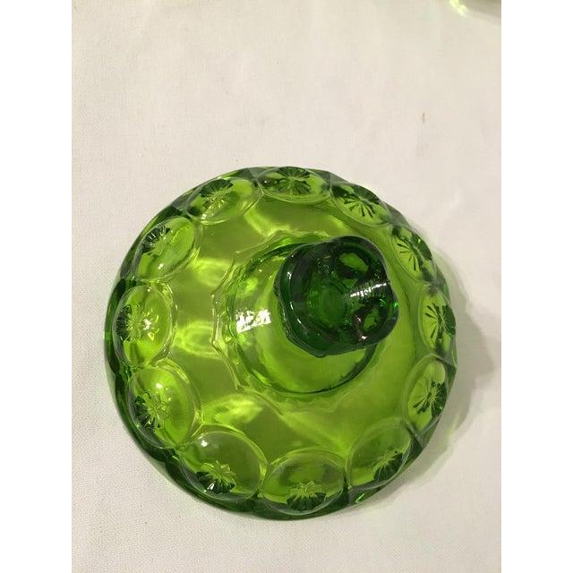 Image of LE Smith Attri. Moon & Stars Green Compote Dish