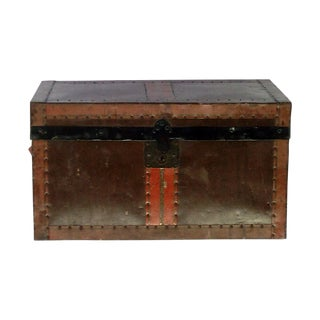 Antique Desk Trunk with Tray