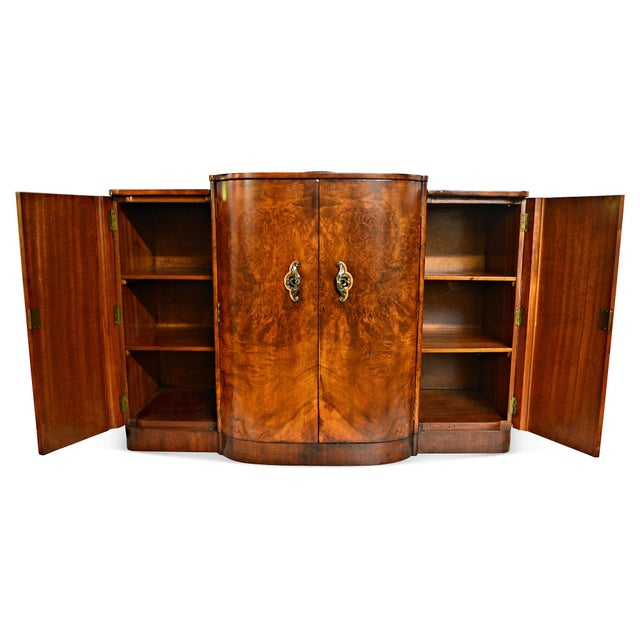 French Art Deco Burl Walnut Veneer Bar/Buffet - Image 6 of 8