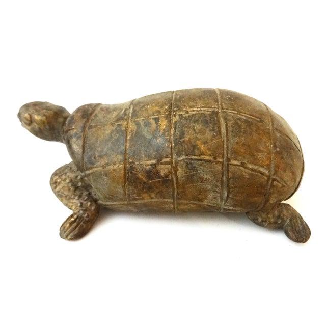 Bronze African Ashanti Akan Sculpture - Turtle - Image 7 of 8