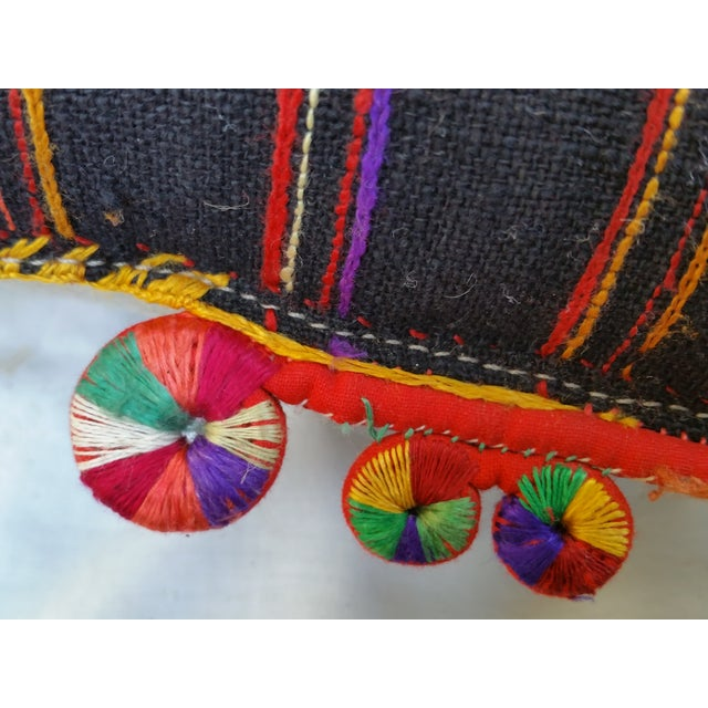 Embroidered Spiral Tassel Pillow - Image 5 of 6