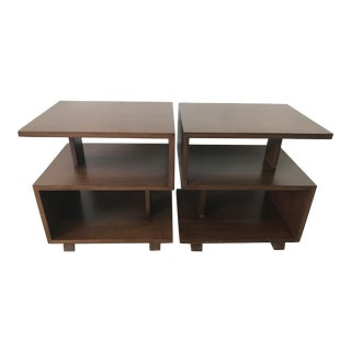 Walnut End tables by Paul Frankl