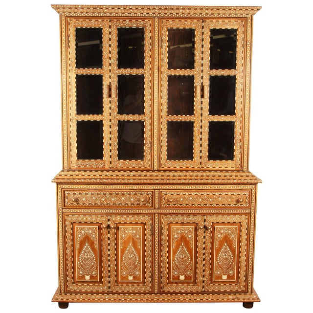 Richly Inlaid Indian Cabinet - Image 1 of 10