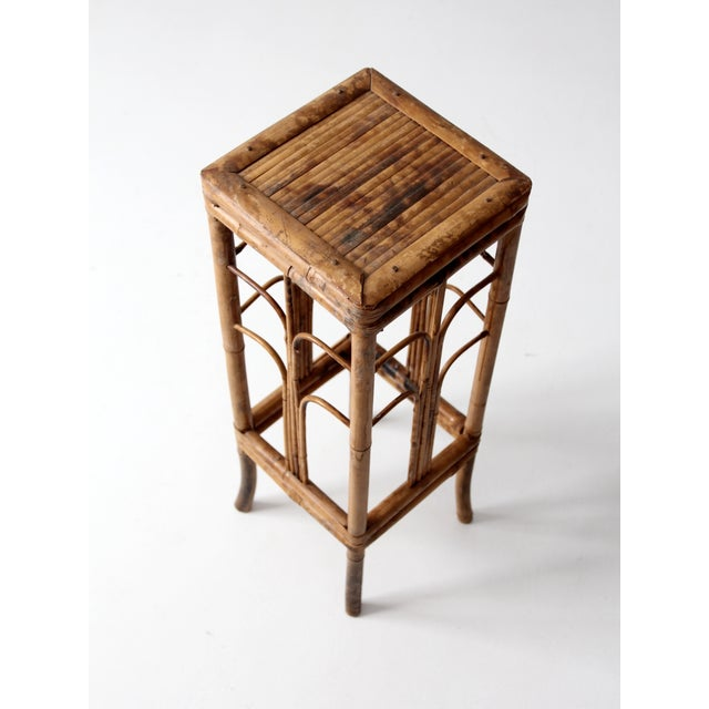 Vintage Bamboo Side Table - Image 8 of 8