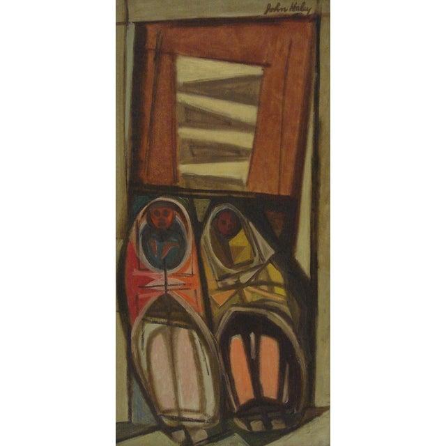 """John Haley """"Navajos at Gallup"""" 1947 Painting - Image 3 of 7"""