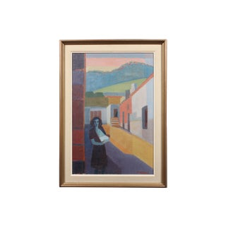 """Hoglund 1951 """"Pa Street Alicante Spain"""" Painting"""