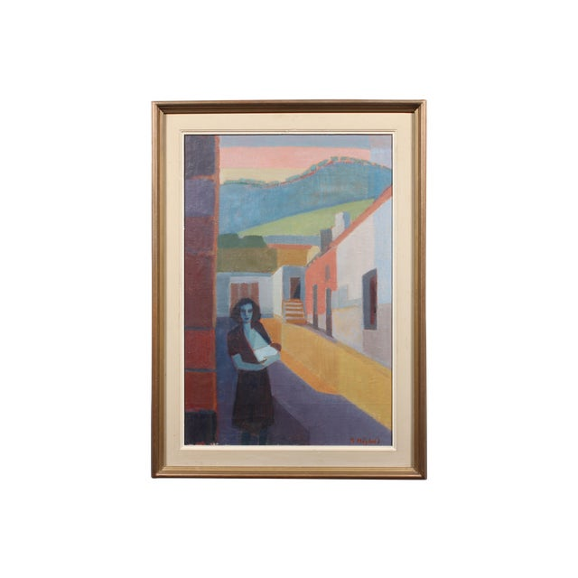 "Image of Hoglund 1951 ""Pa Street Alicante Spain"" Painting"