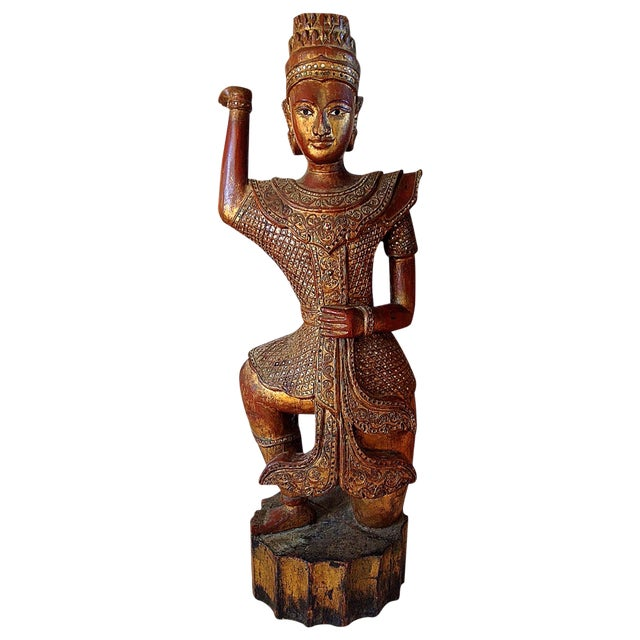Large Wooden Dancing Figure - Image 1 of 11